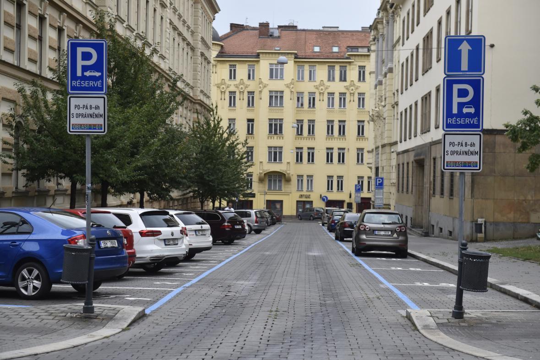 Parkování v centru Brna