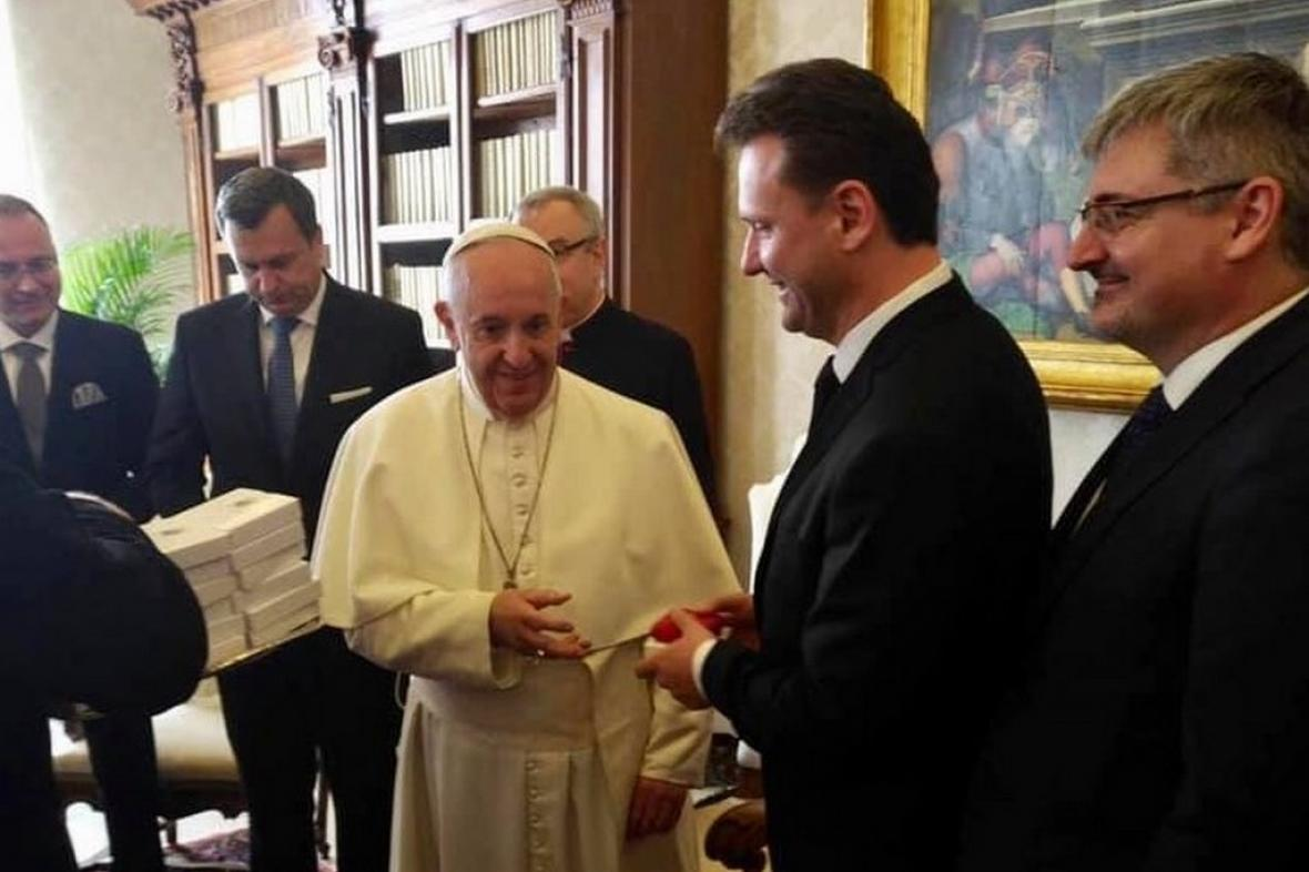 Radek Vondráček na audienci u papeže Františka
