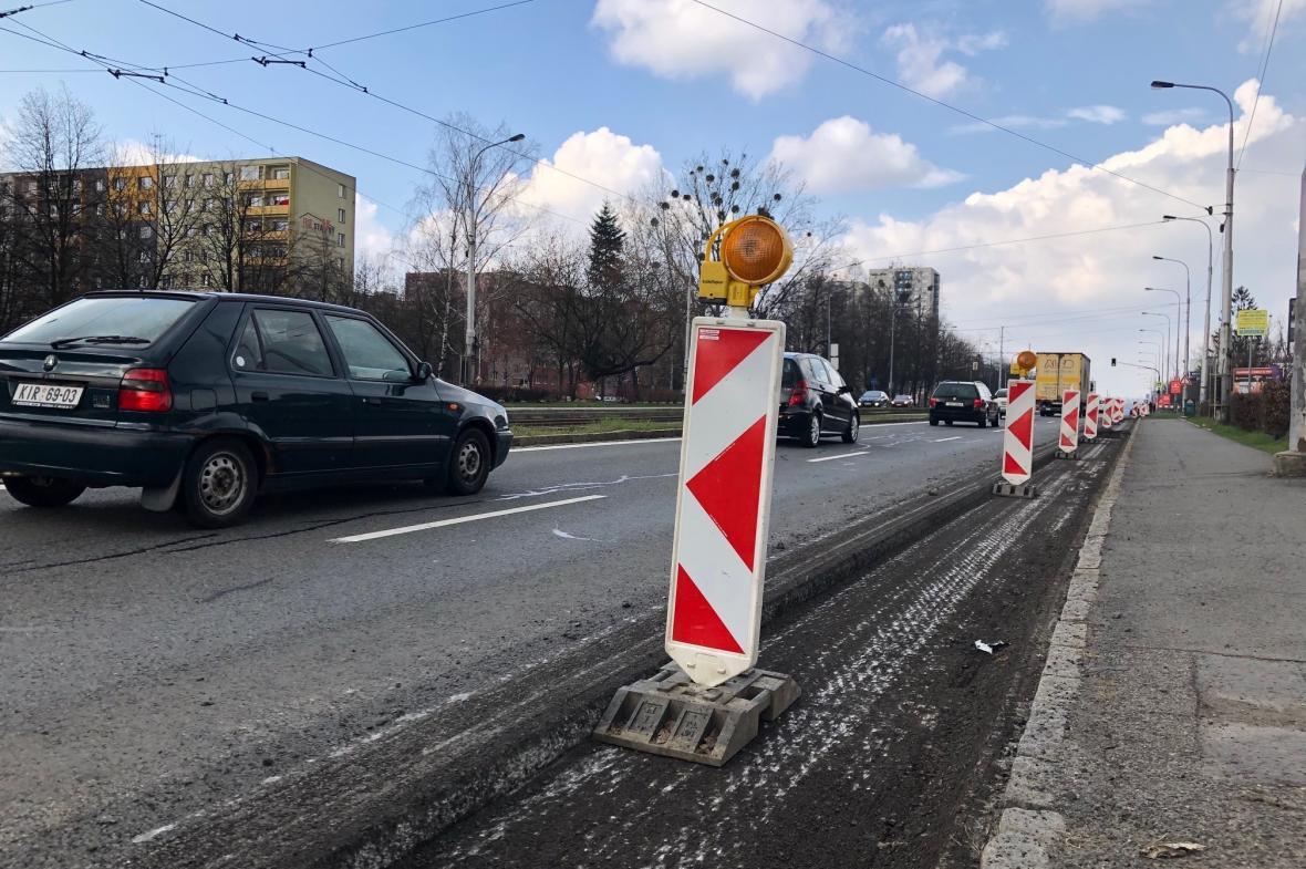 Začala oprava Opavské ulice v Ostravě