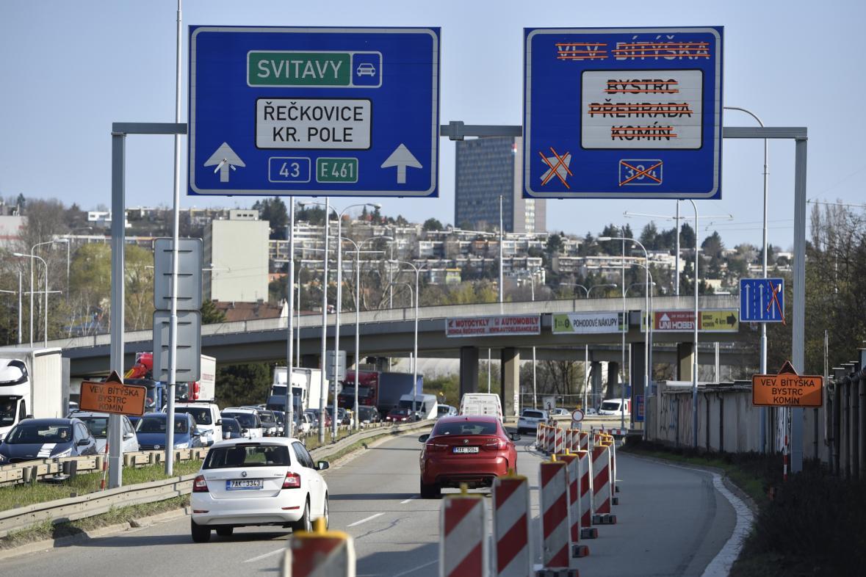 Dopravní omezení v Brně