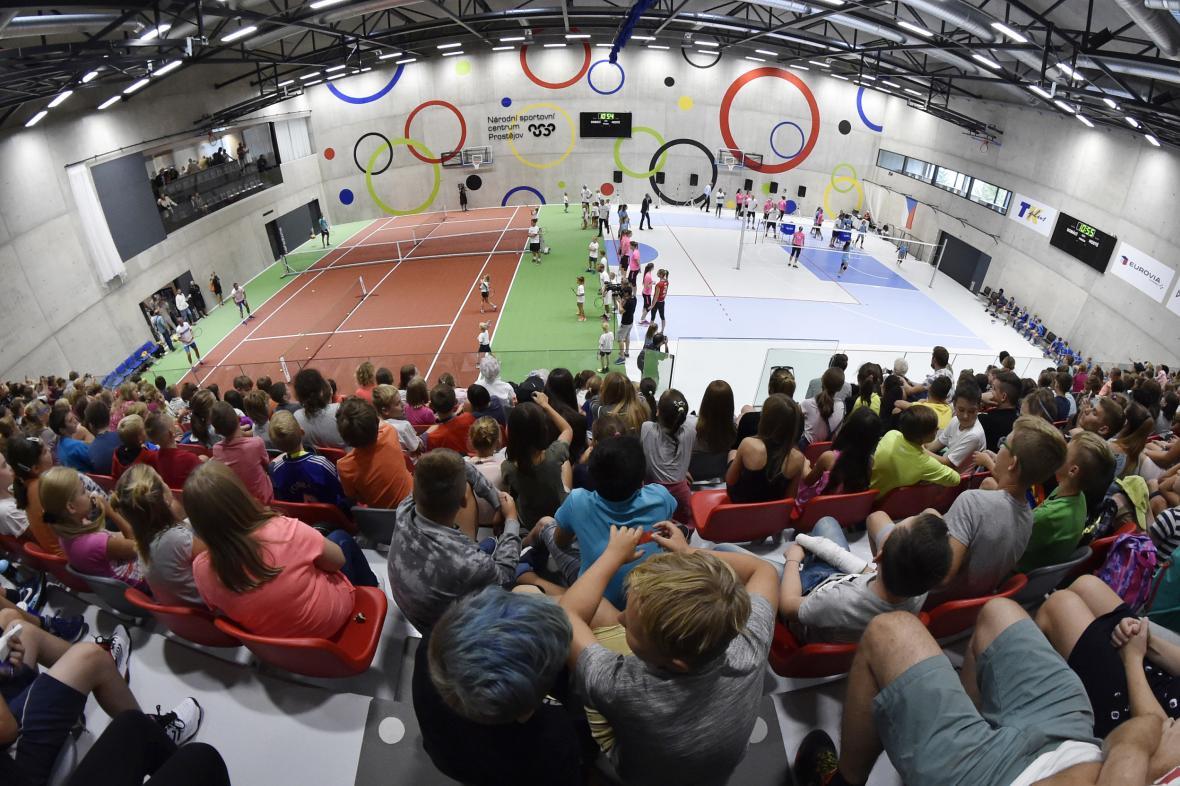 Otevření Národního sportovního centra v Prostějově v září 2018