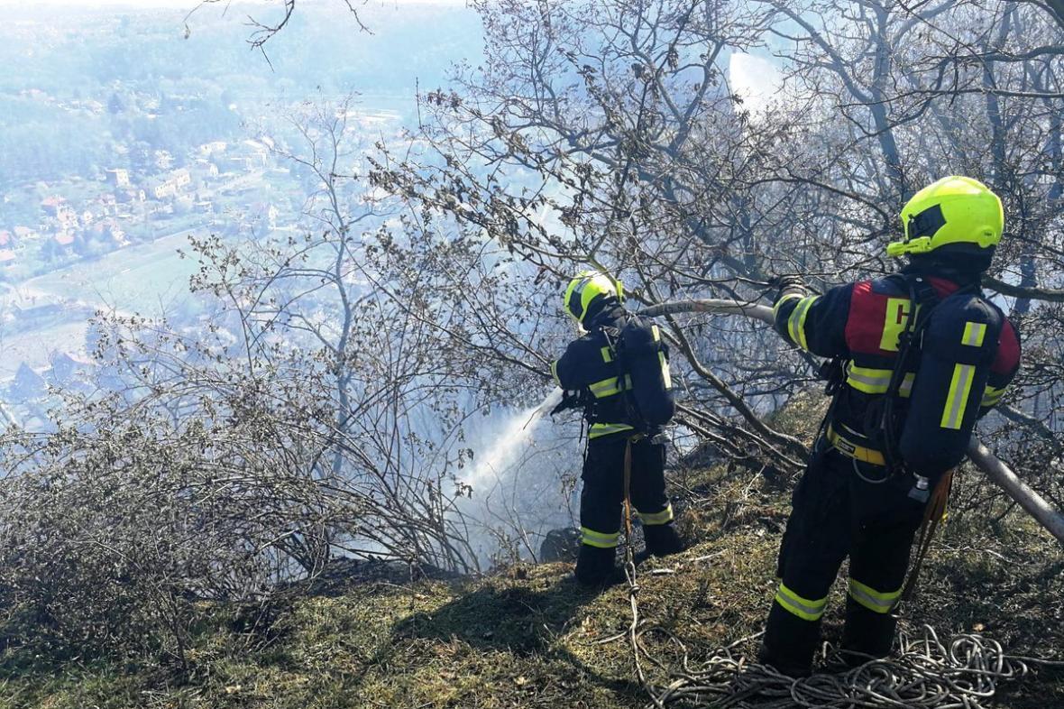 Požár u Libčic nad Vltavou