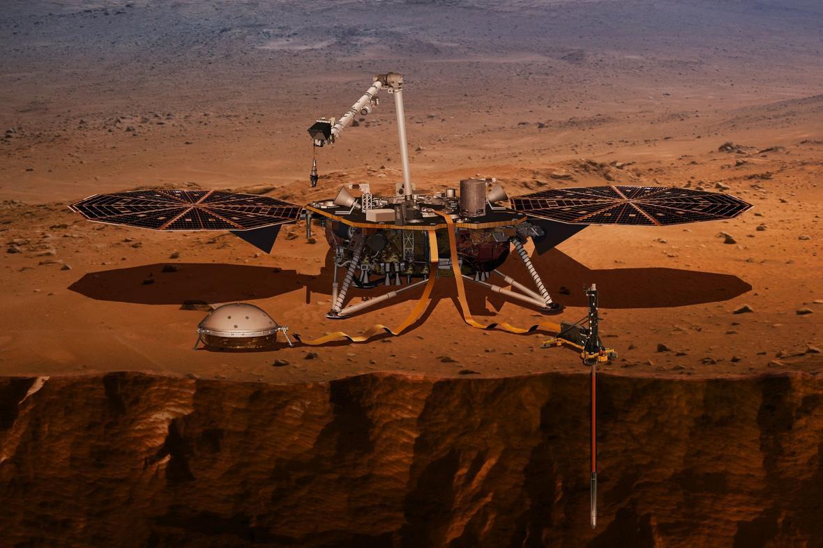 Měření otřesů na Marsu