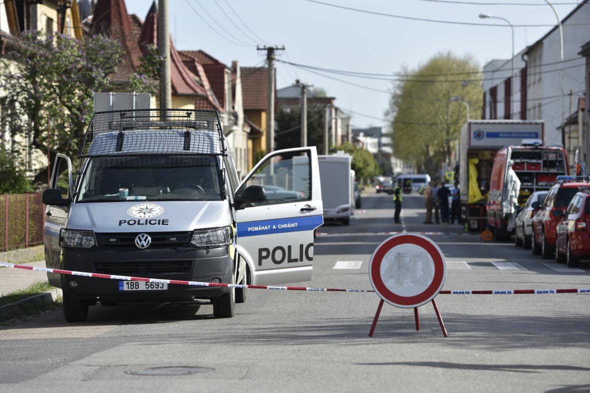 Zásah policie v Kyjově