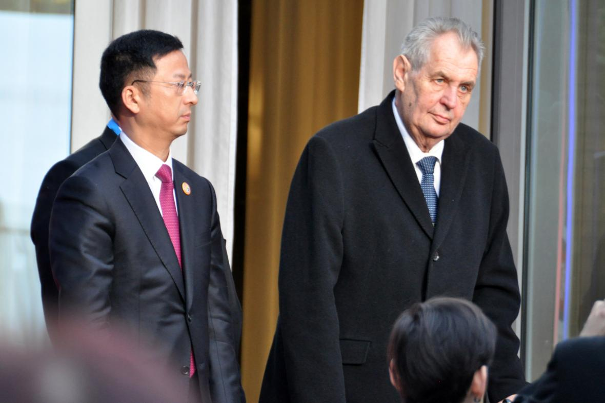 Miloš Zeman na návštěvě do Číny