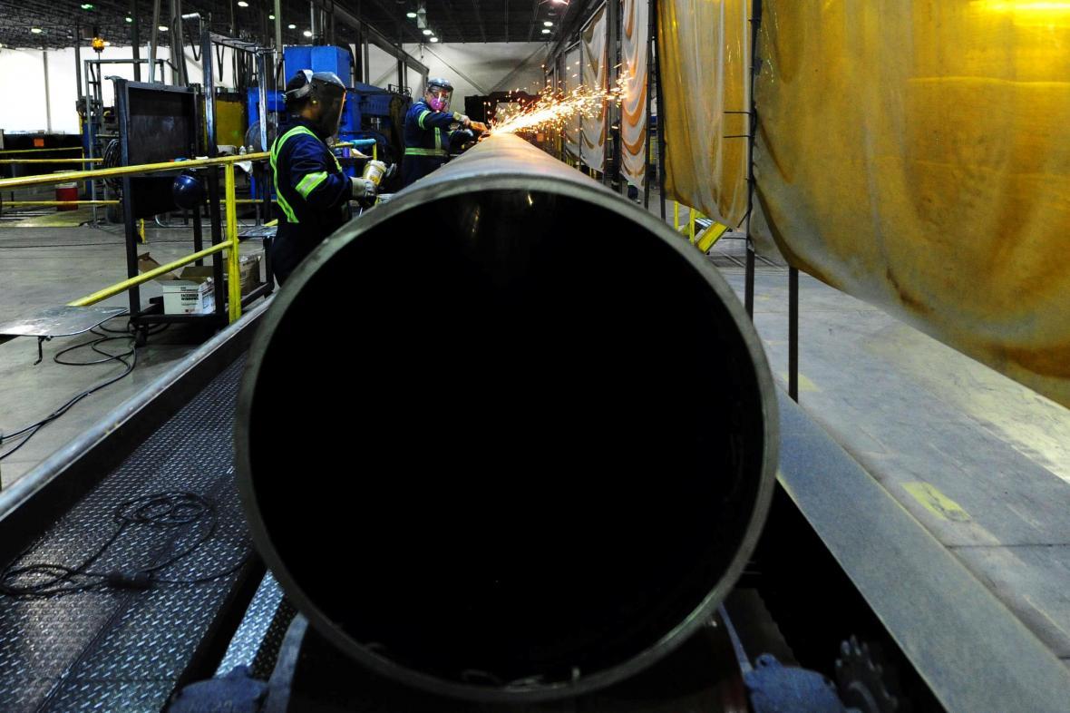 Pohled do kanadské ocelárny v Edmontonu