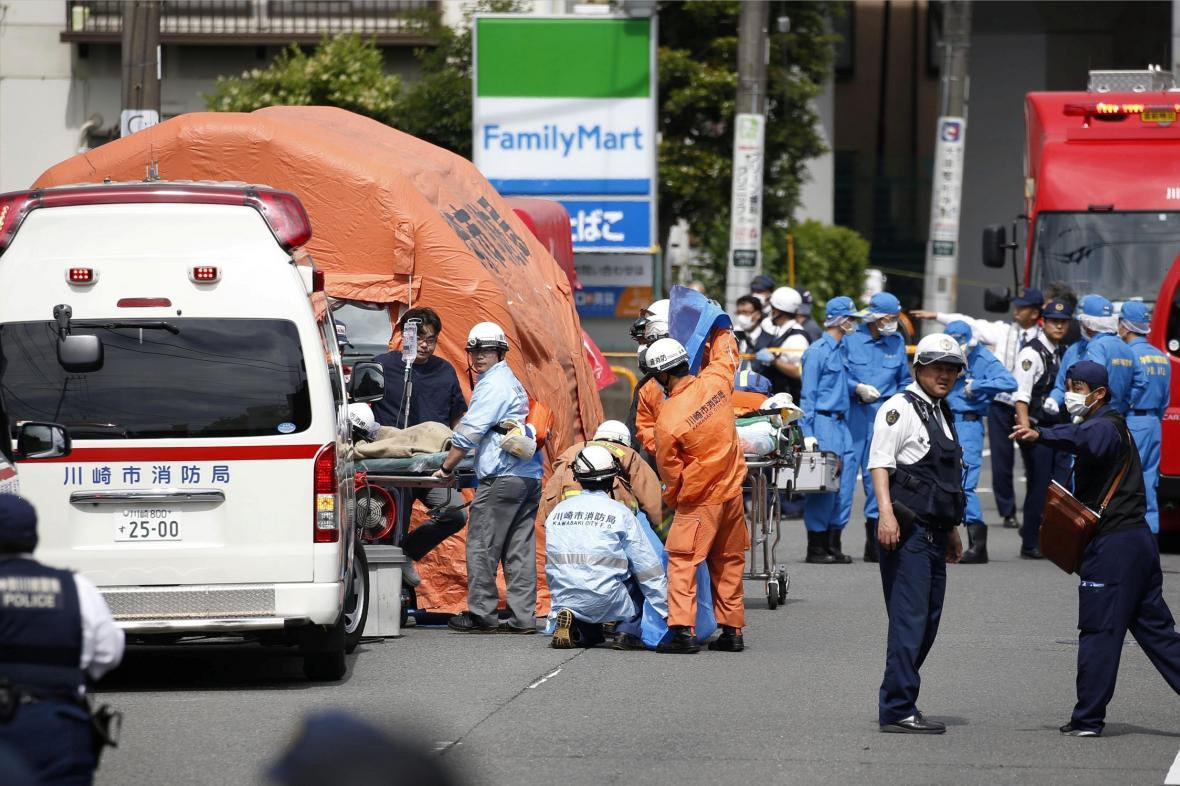 Útok na školáky ve městě Kawasaki