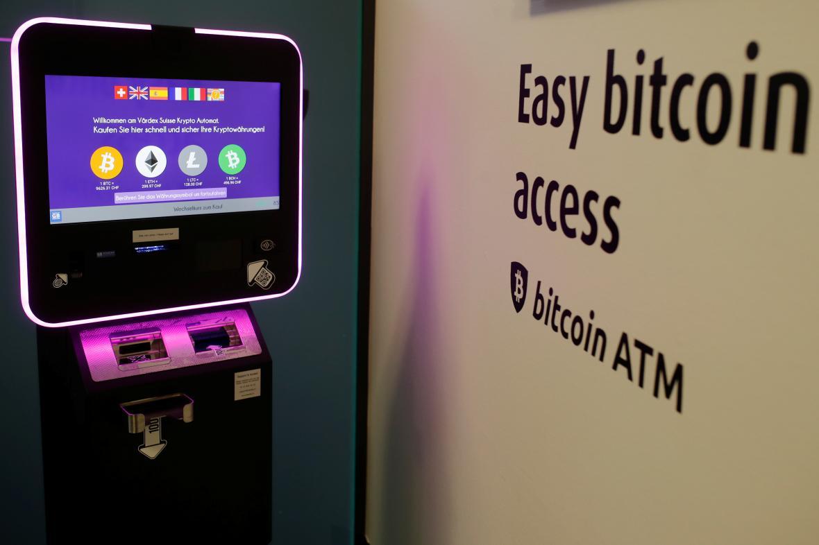 Automat na kryptoměny ve Swiss Falcon Private Bank v Zurichu