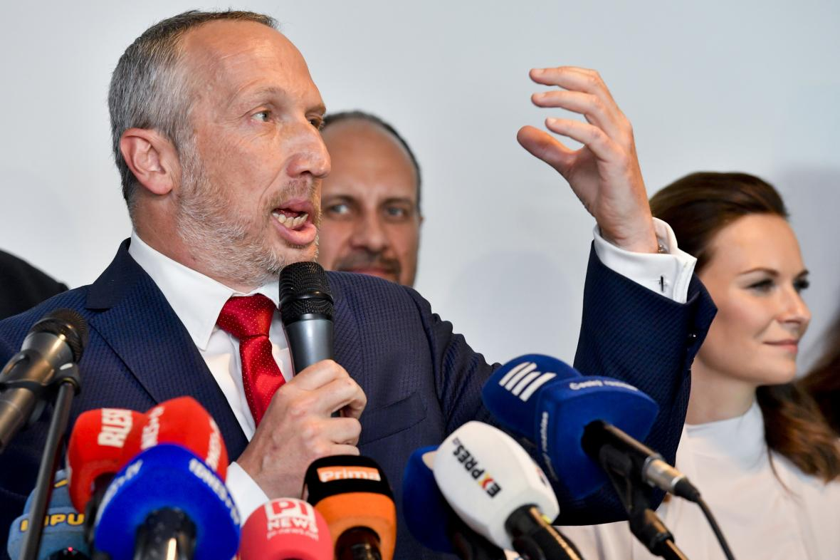 Václav Klaus mladší představuje svou novou politickou stranu (10. června 2019)