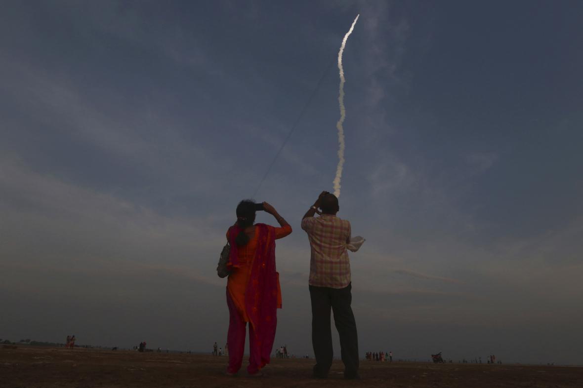 Start indické rakety GSLV-MkII