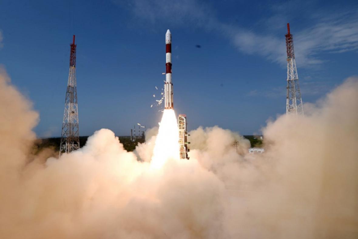 Ilustrační foto, start indické rakety