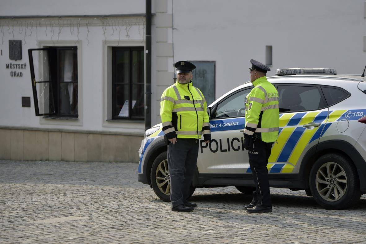 Zásah policie na radnici v Rýmařově