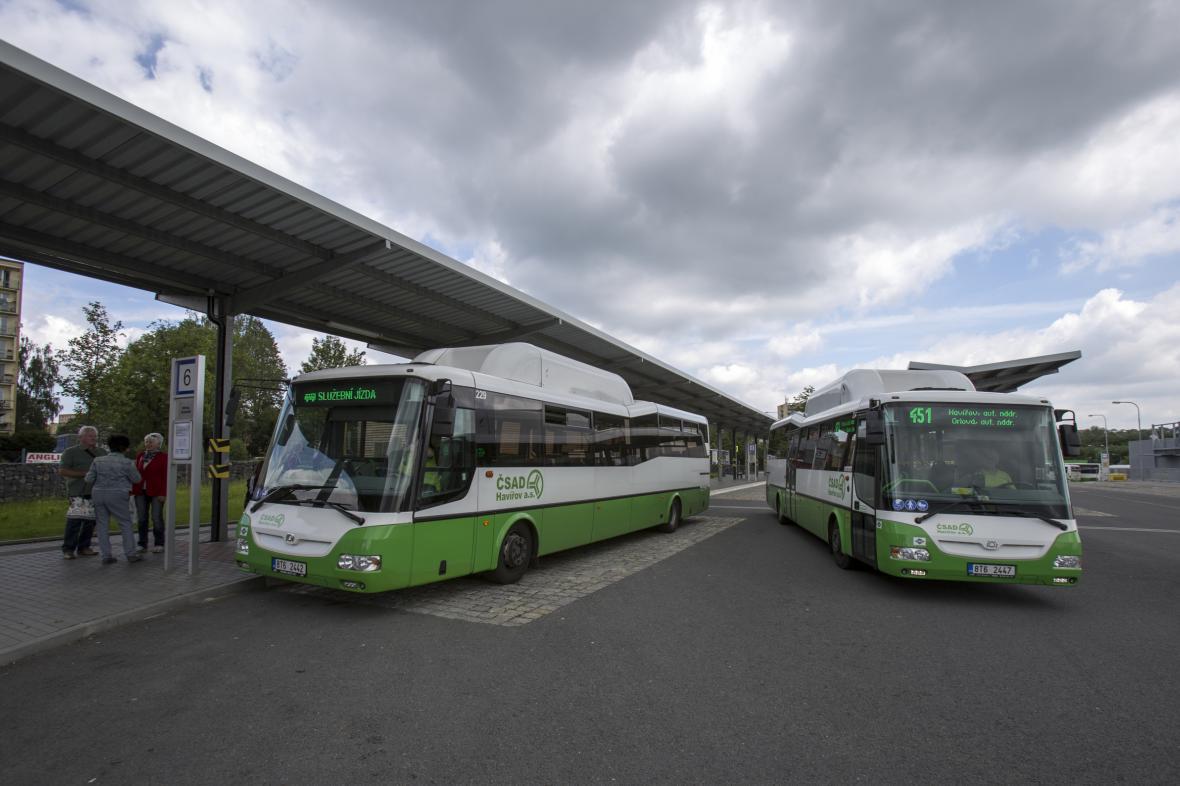 Autobusové nádraží v Havířově