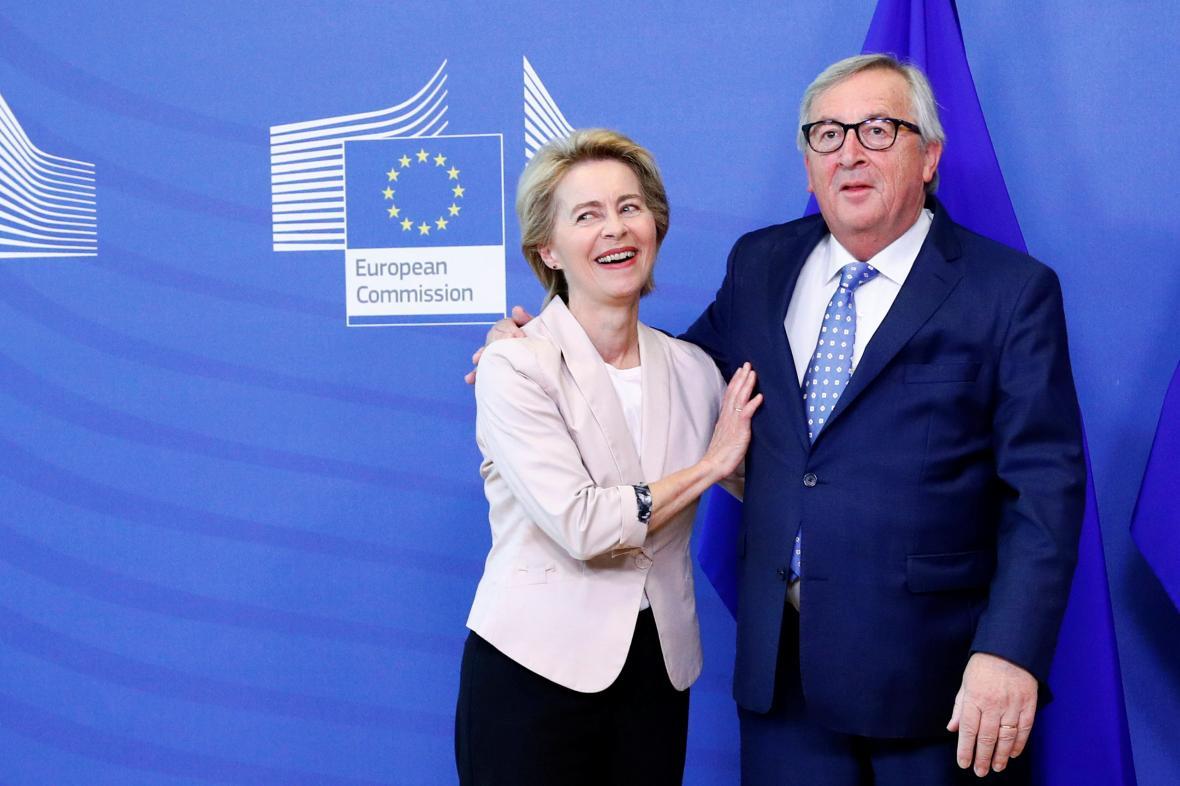 Ursula von der Leyenová a Jean-Claude Juncker