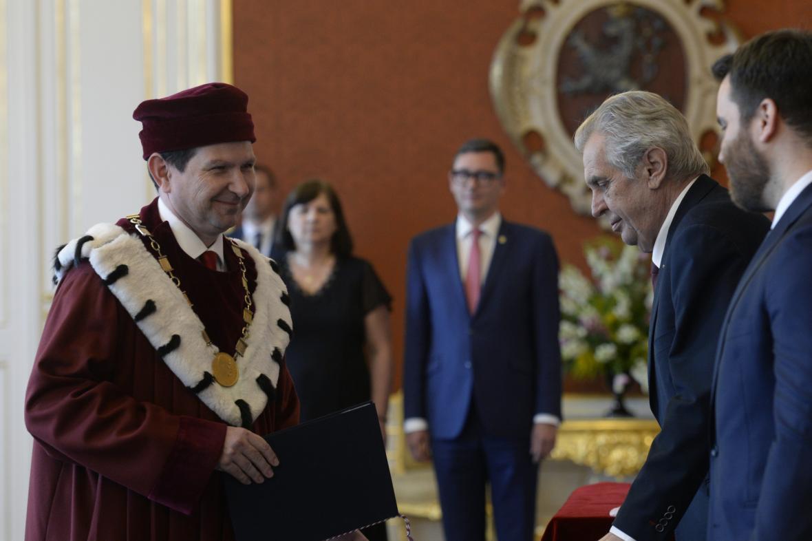 Prezident Zeman jmenovat Martina Bareše rektorem Masarykovy univerzity