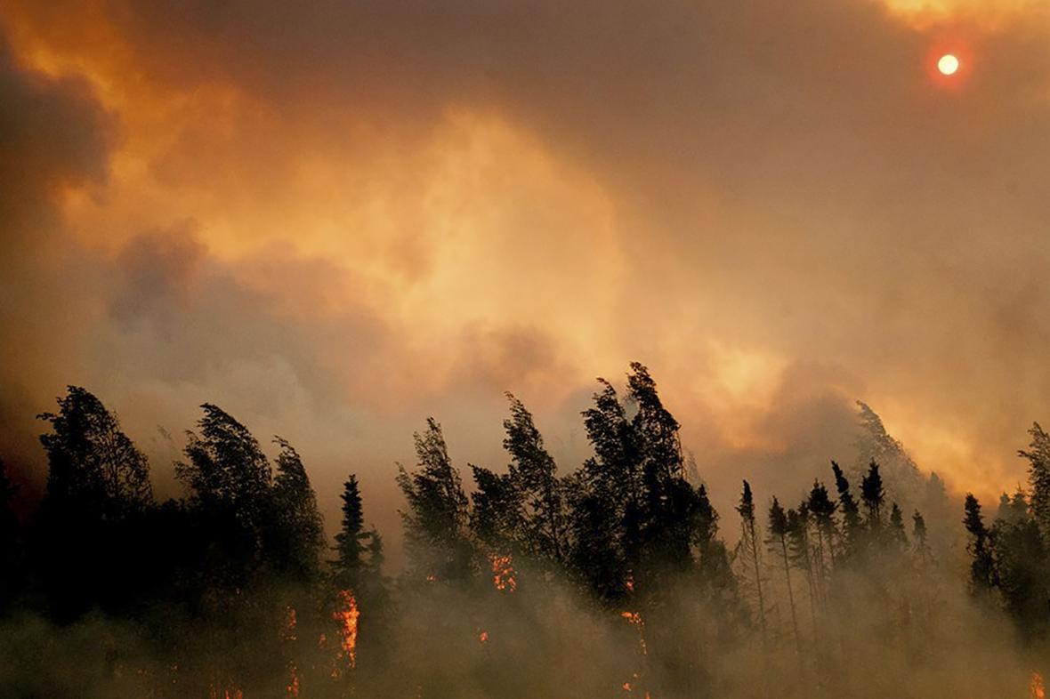 Přírodní požár na Aljašce