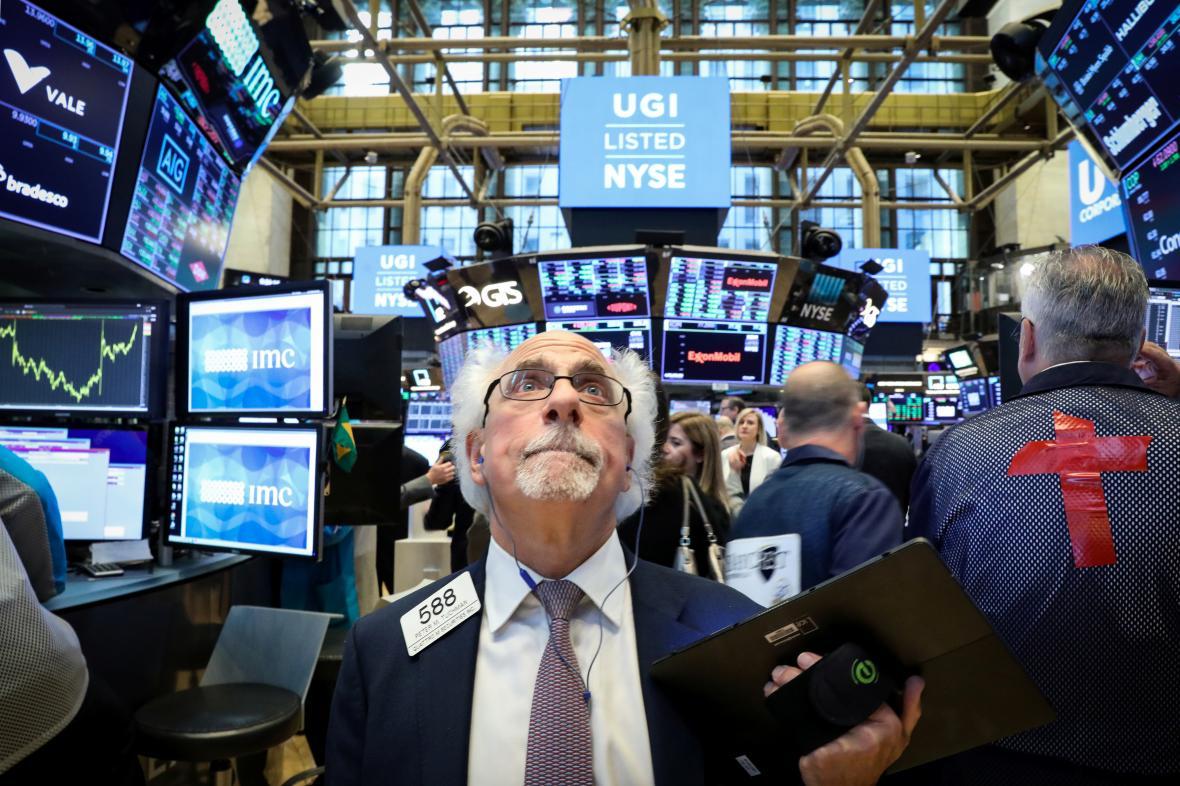 Obchodníci newyorské akciové burzy NYSE