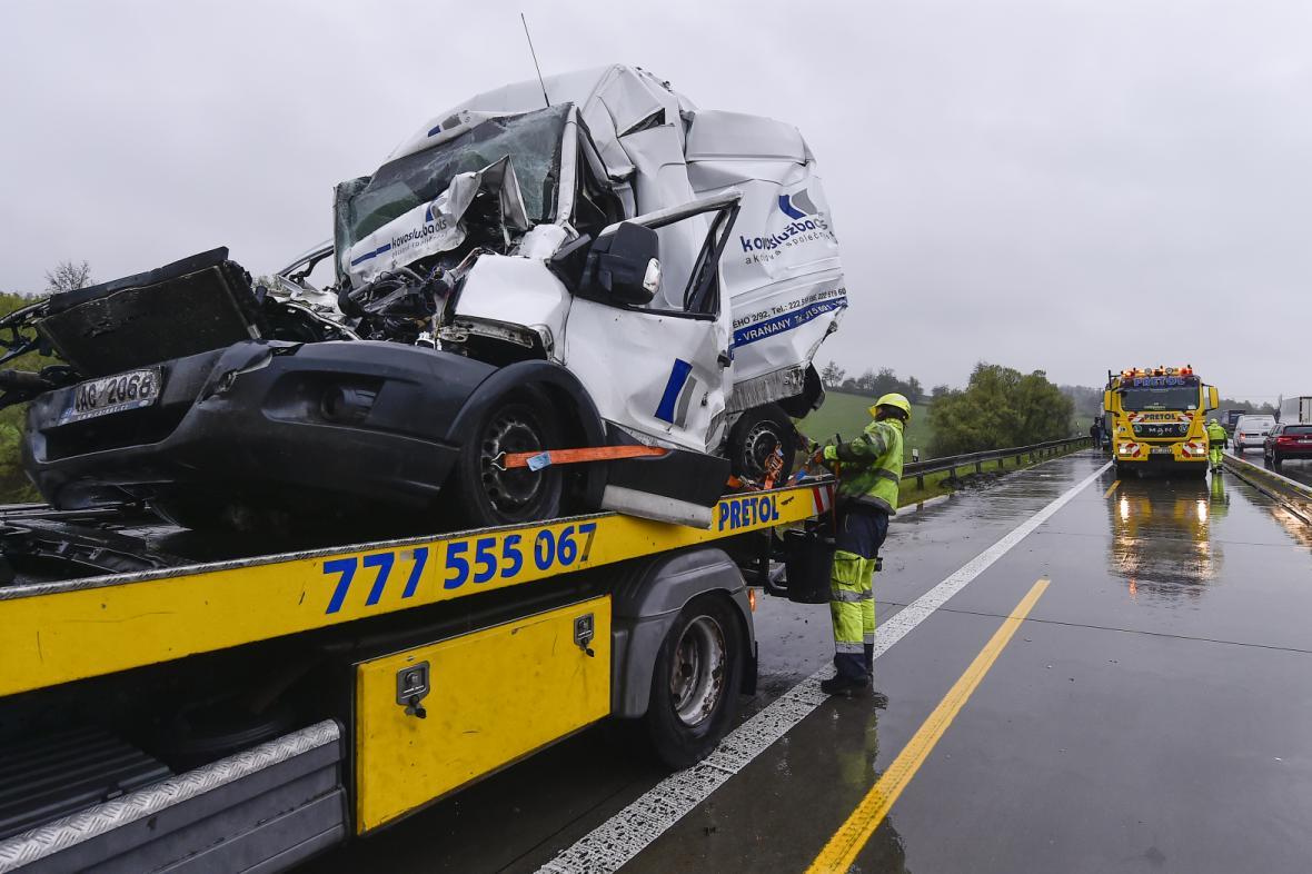 Nehoda na opravované D1