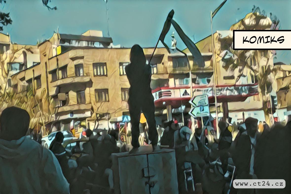 Protesty v Íránu proti hidžábům
