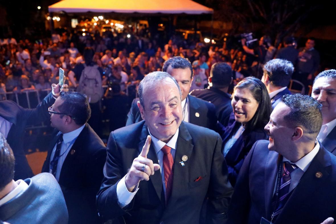 Alejandro Giammattei je novým prezidentem Guatemaly