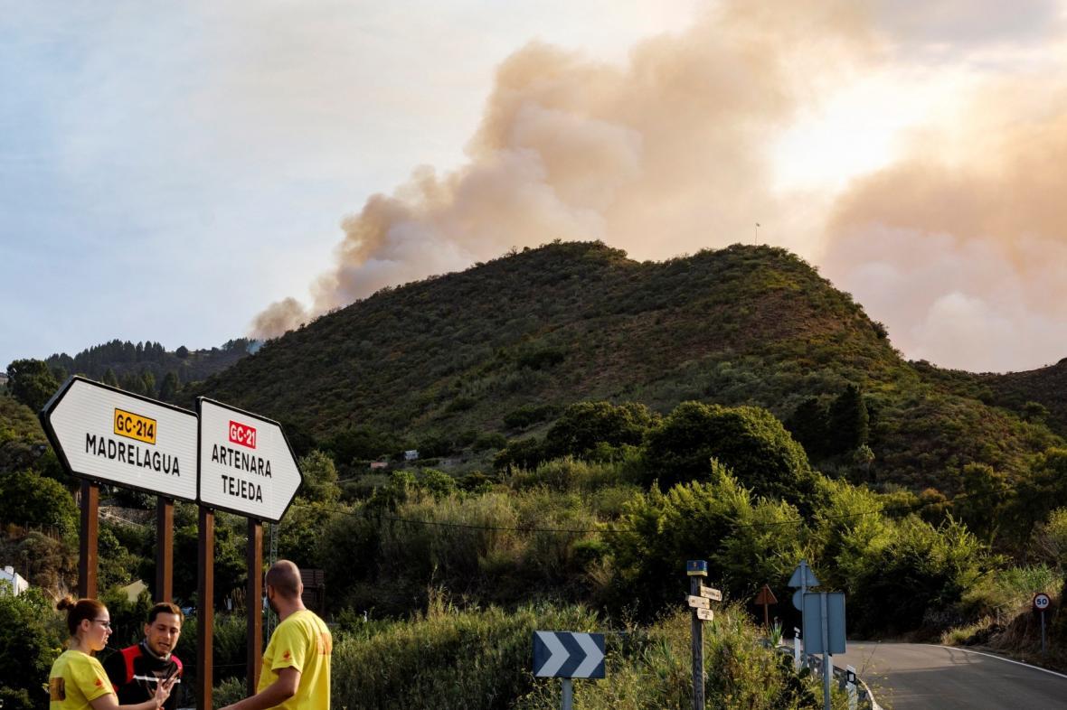 Požár na Gran Canarii