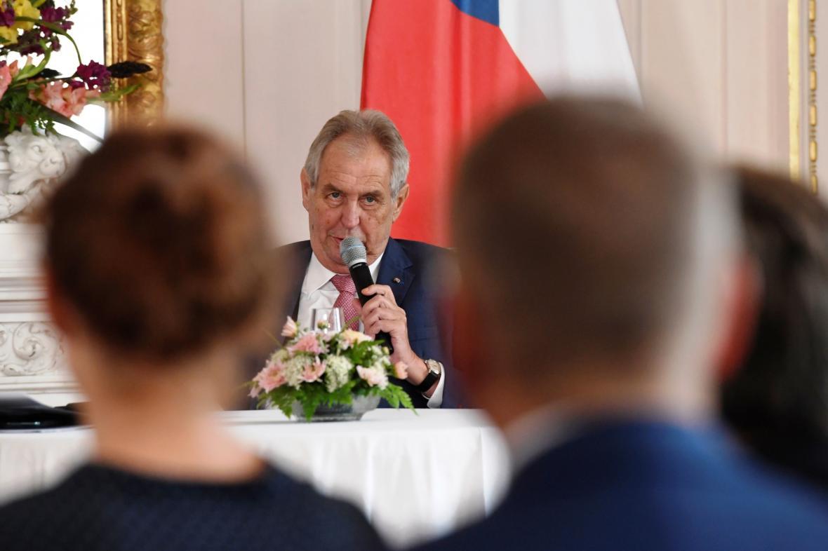 Prezident Miloš Zeman na setkání s českými velvyslanci