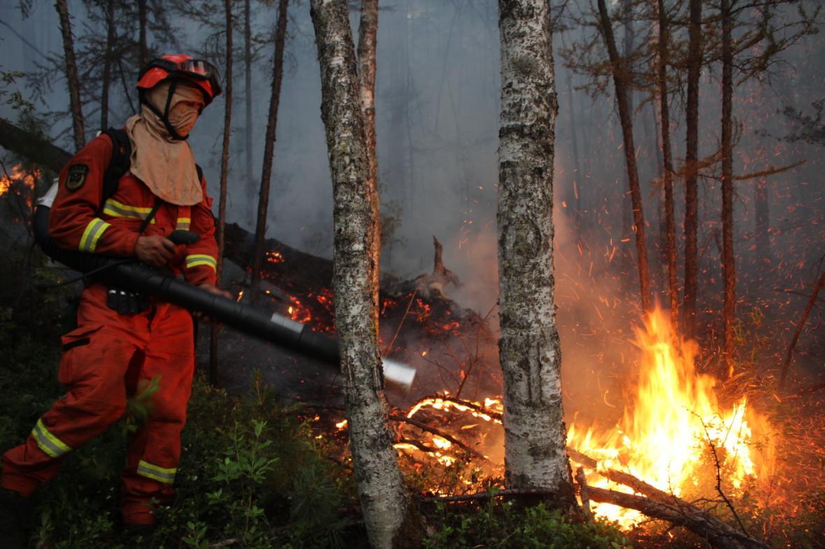 Požáry v Mongolsku