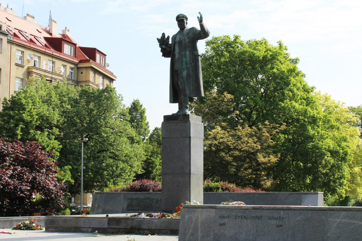 Socha maršála Koněva