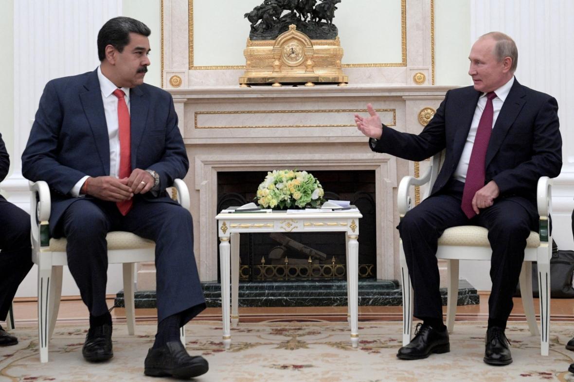 Nicolas Maduro a Vladimir Putin