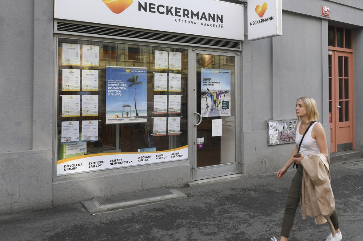 Prodejní místo CK Neckermann v Praze