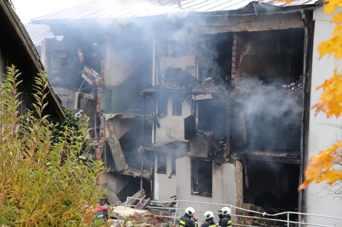 Požár domu v Lenoře