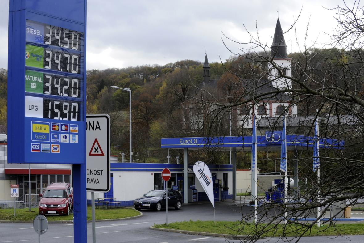Čerpací stanice EuroOil (na snímku z roku 2013)