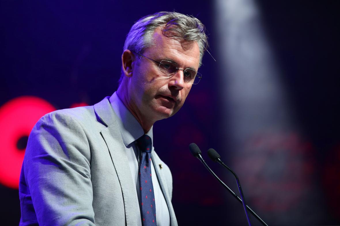 Předseda Svobodné strany Rakouska (FPÖ) Norbert Hofer