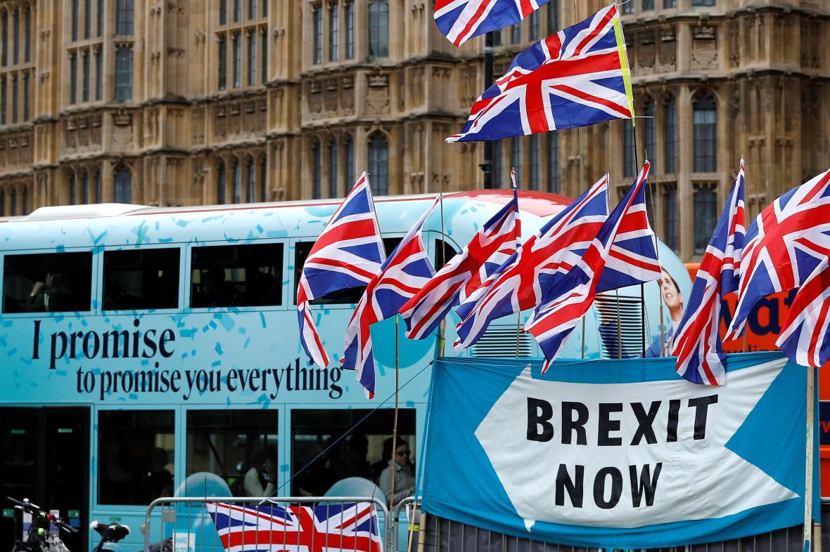 Demonstrace za brexit