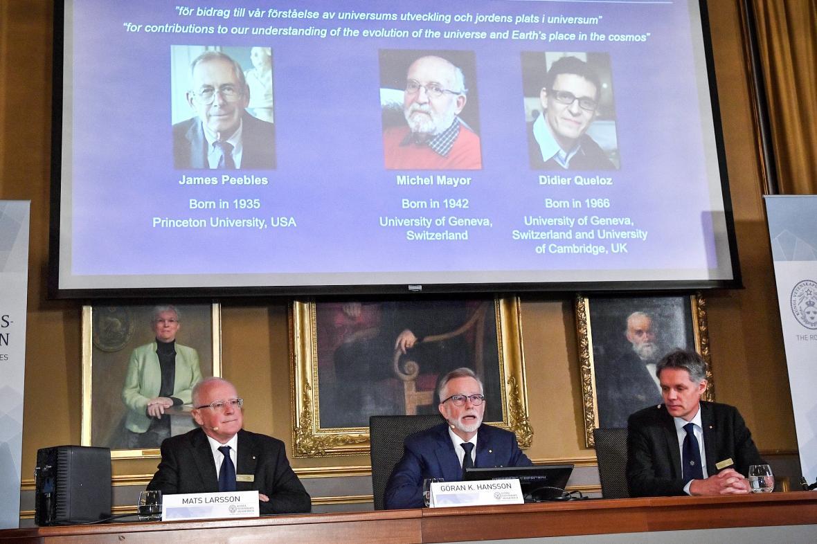 Vyhlašování Nobelovy ceny za fyziku