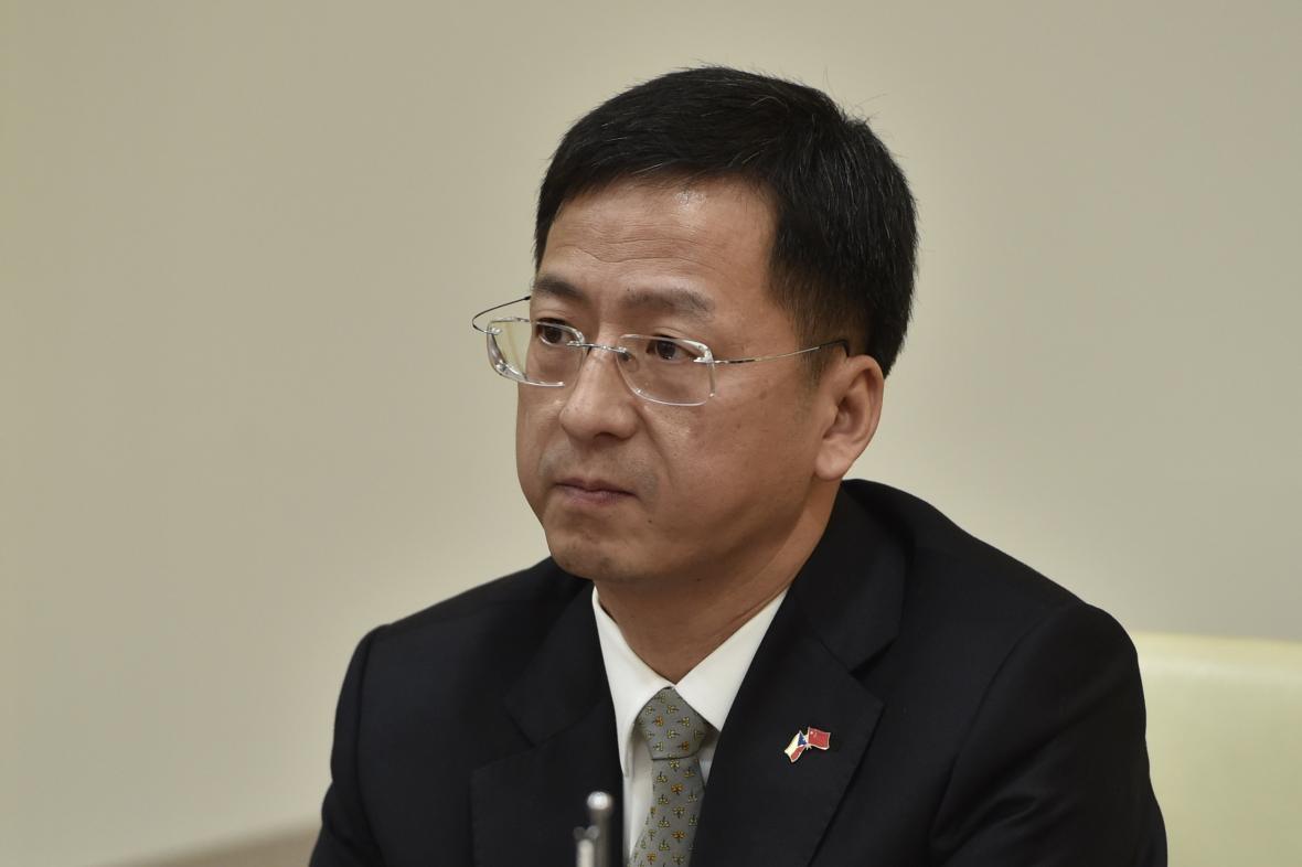 Čínský velvyslanec Čang Ťien-ming