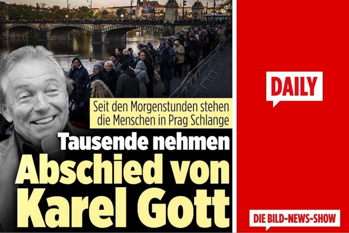Německý list Bild píše o loučení s Karlem Gottem