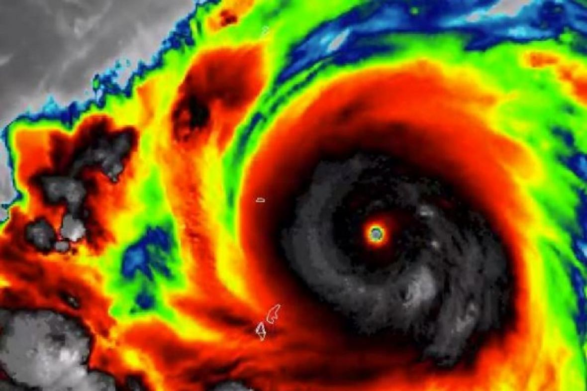 Tajfun Hagibis ze satelitů Copernicus