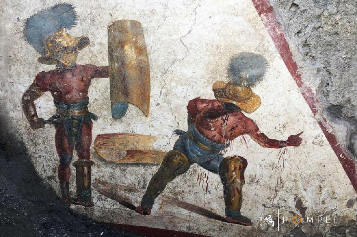 Freska Souboj gladiátorů
