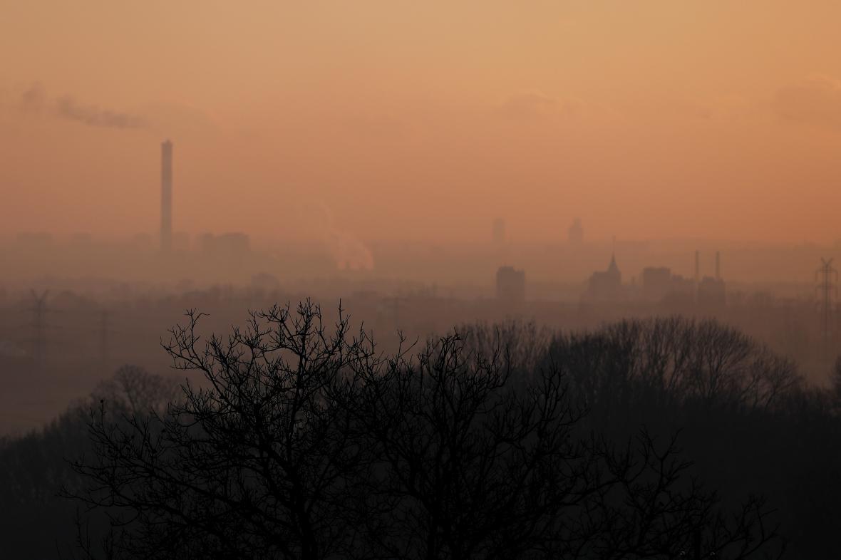 Smog v katovické oblasti v Polsku