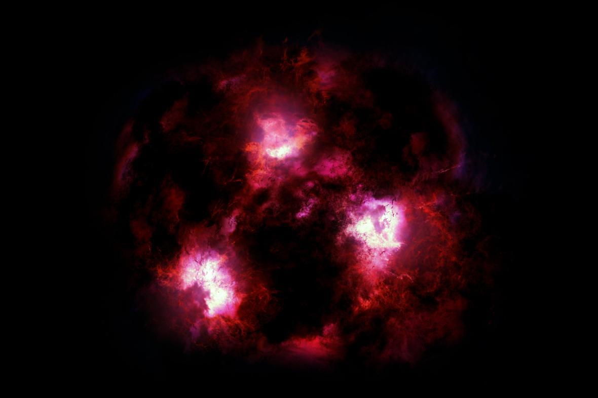 Vizualizace galaxie nazývané Kosmický