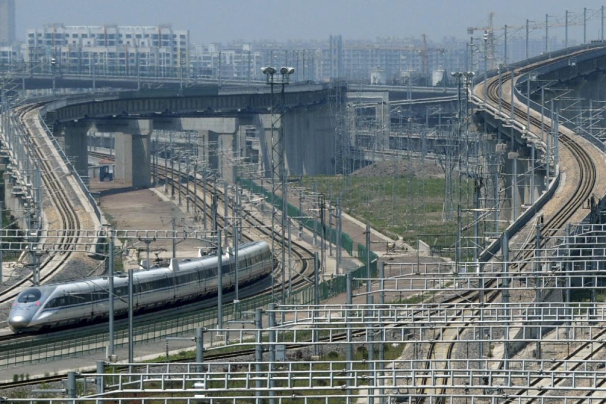 Železniční křižovatka v Šanghaji