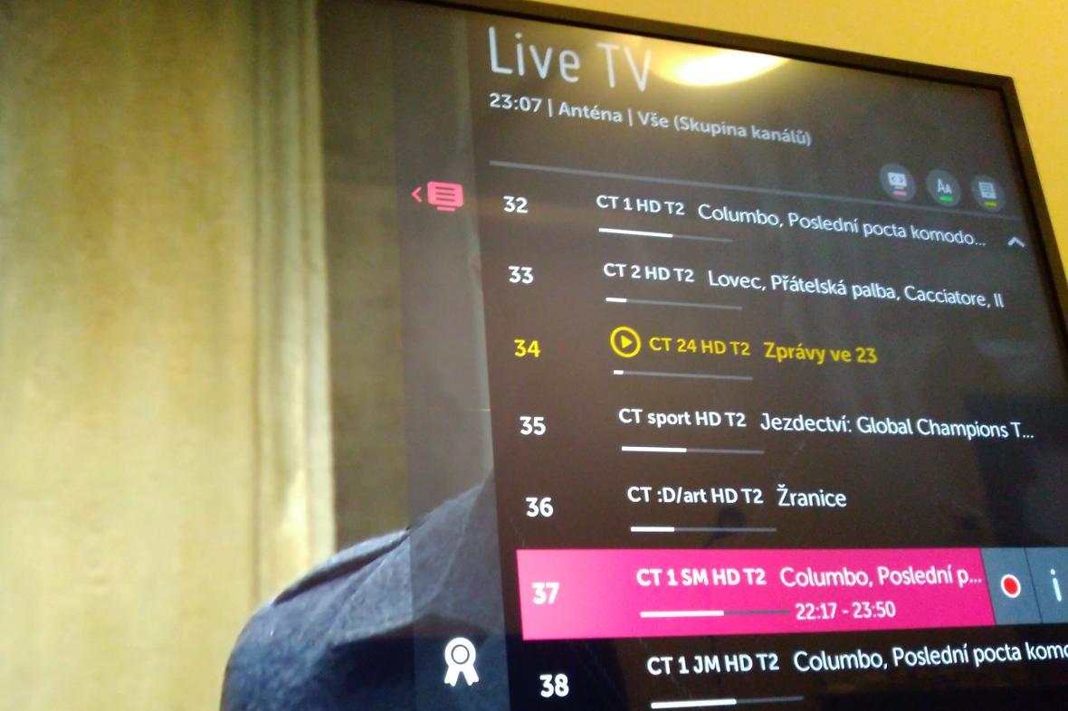 Přehled kanálů ČT v DVB-T2