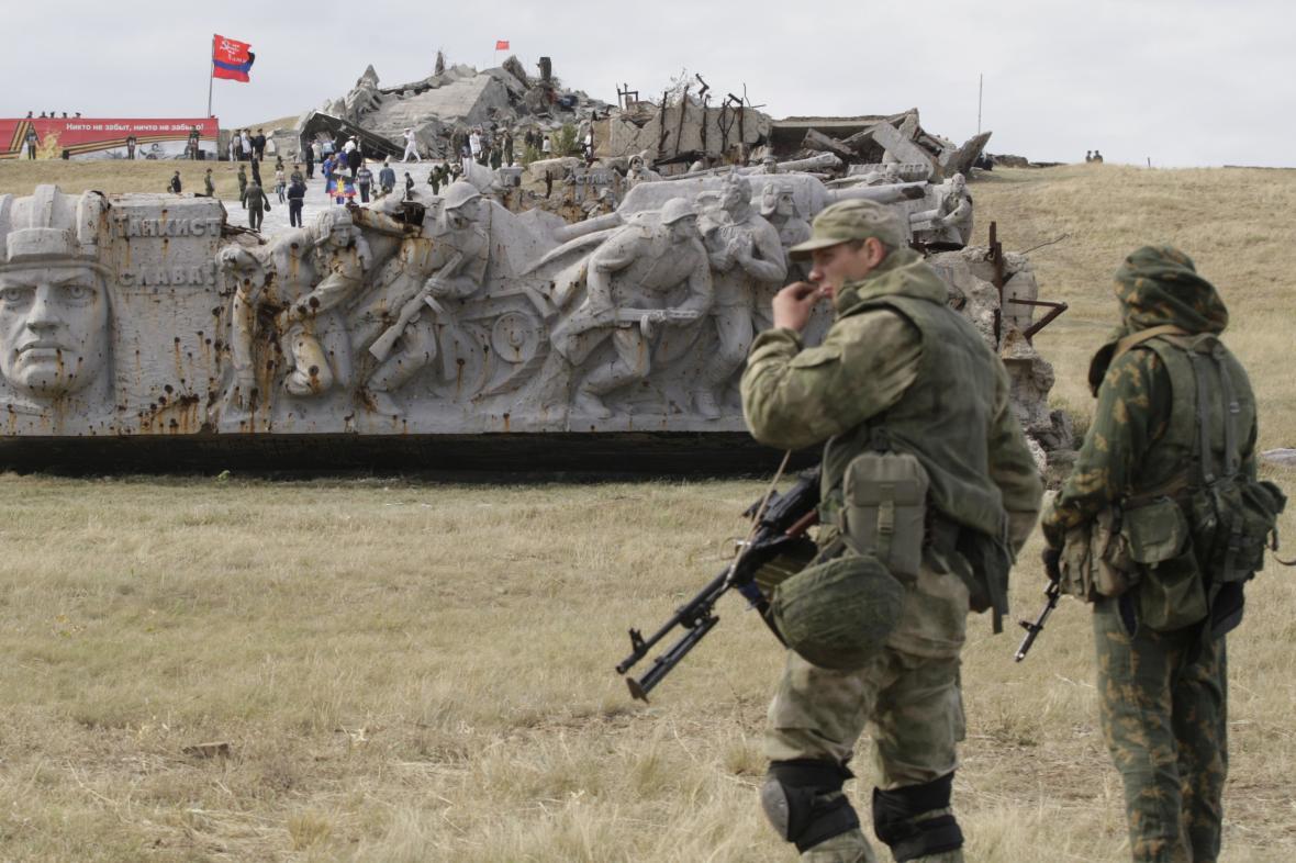 Vojáci na Donbase