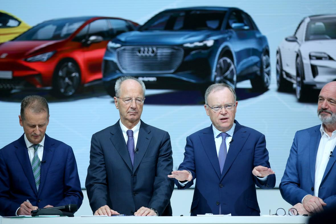Z tiskové konference Volkswagenu o chystaných investicích