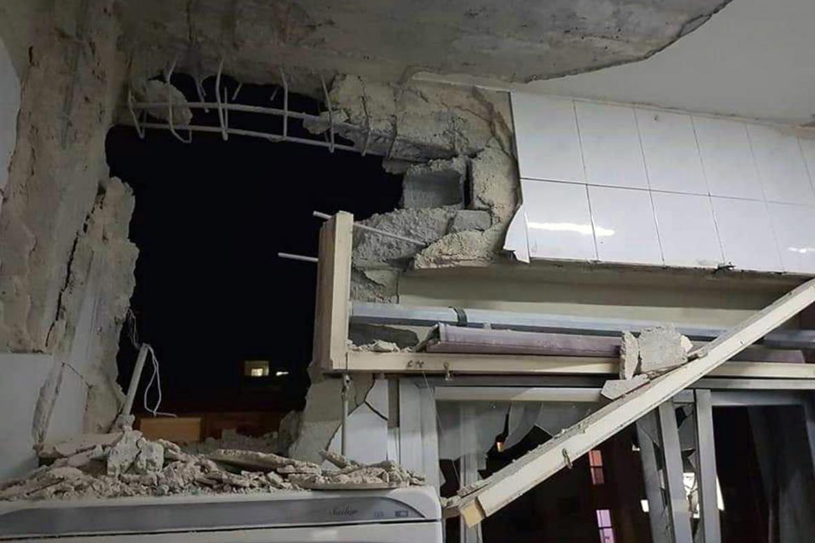 Dům nedaleko Damašku poškozený při izraelském útoku