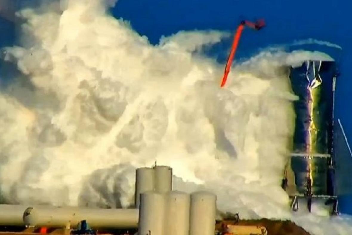 Exploze Muskovy lodi Starship