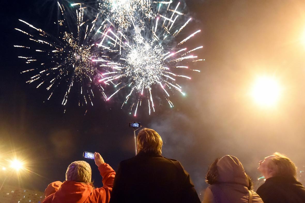 Minulý novoroční ohňostroj v Ostravě