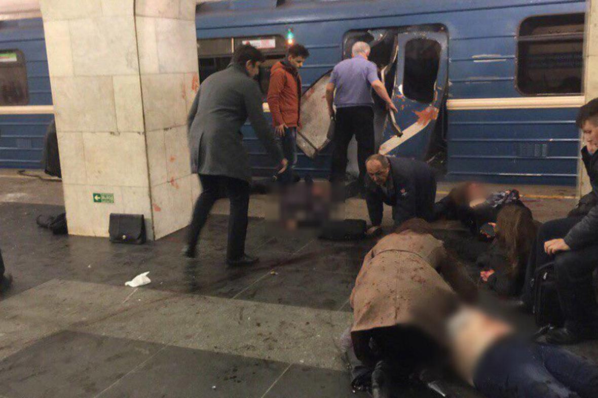 Následky útoku v petrohradském metru (duben 2017)