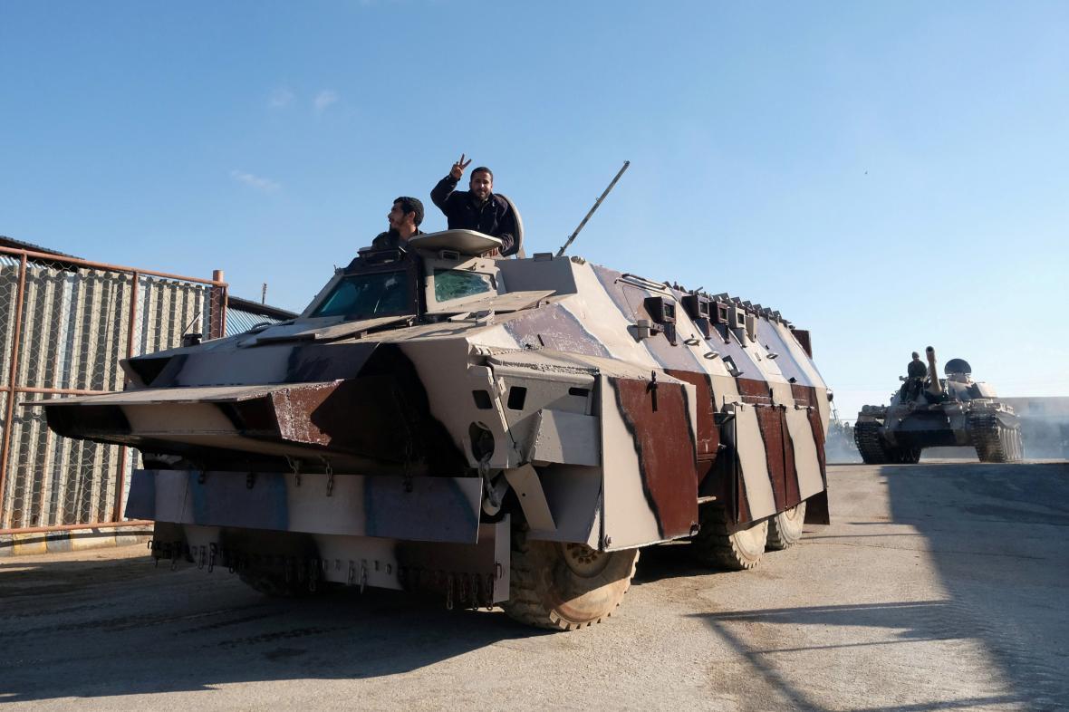 Jednotky Libyjské národní armády (LNA) Chalífy Haftara